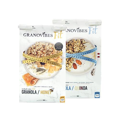 กราโนล่า กราโนไวบ์ส ฟิต สูตรน้ำผึ้ง และสูตรควินัว