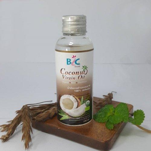บีแอลซี น้ำมันมะพร้าวธรรมชาติ 100 เปอร์เซ็นต์ สกัดเย็น 100 มิลลิลิตร ออแกนิค 100 ชิ้น