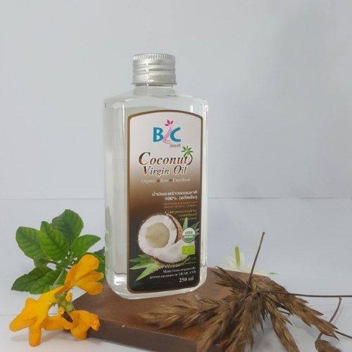 บีแอลซี น้ำมันมะพร้าวธรรมชาติ 100 เปอร์เซ็นต์ 250 มิลลิลิตร สกัดเย็น ออแกนิค