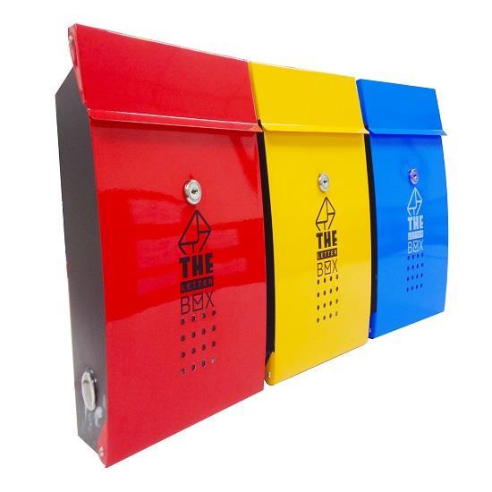 ตู้รับจดหมายประจำบ้านชนิดโลหะ (สีเหลือง)