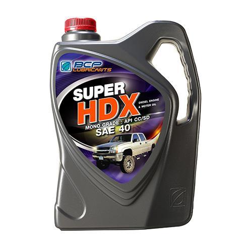 น้ำมันเครื่องยนต์ดีเซล SUPER HDX CC/SD 40 5L (1 กล่อง/ชุด)