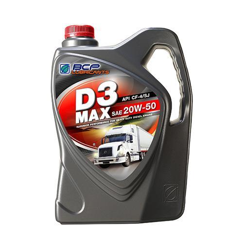 น้ำมันเครื่องยนต์ดีเซล D3 MAX CF4/SJ 20W50 6+1L (1 กล่อง/ชุด)