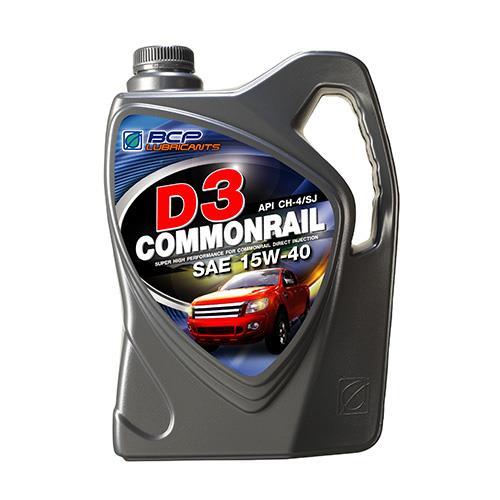 น้ำมันเครื่องยนต์ดีเซล D3 COMMONRAIL CH4/SJ 15W40 6+1L (1 กล่อง/ชุด)
