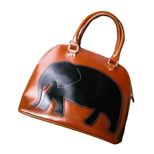 กระเป๋าสะพาย ทำจากหนังวัวแท้ รุ่นรักษ์ช้าง 3