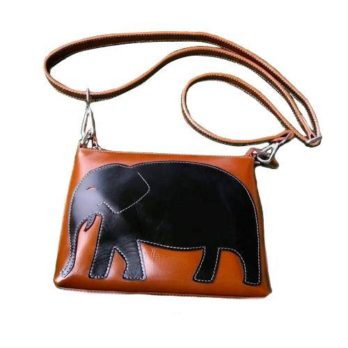 กระเป๋าสะพาย ทำจากหนังวัวแท้ รุ่นรักษ์ช้าง 2