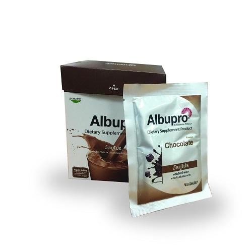 Albupro อาหารเสริมสูตรครบถ้วน กลิ่นช็อกโกแลต
