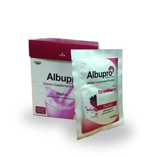 Albupro อาหารเสริมสูตรครบถ้วน กลิ่นสตรอเบอร์รี่