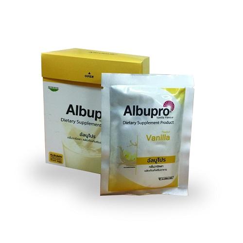 Albupro อาหารเสริมสูตรครบถ้วน กลิ่นวานิลลา
