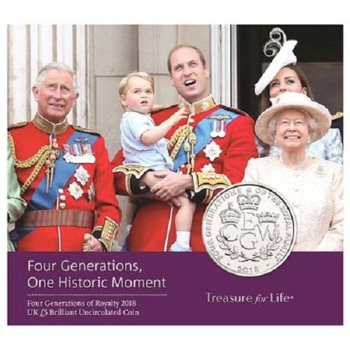 เหรียญเงินขัดเงา The Four Generations of Royalty 2018