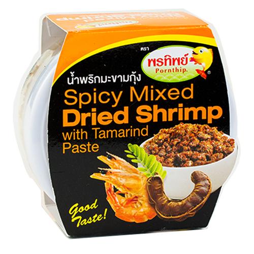น้ำพริกมะขามกุ้ง 50 กรัม 4 กระปุก