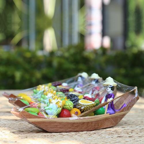 ตุ๊กตาดินเผา ชุดเรือขายผลไม้