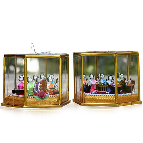 ตุ๊กตาชาววัง ชุดดนตรีไทย (ชุดเล็ก 7 ตัว) ตำบลบางแก้ว อำเภอเมือง จังหวัดอ่างทอง