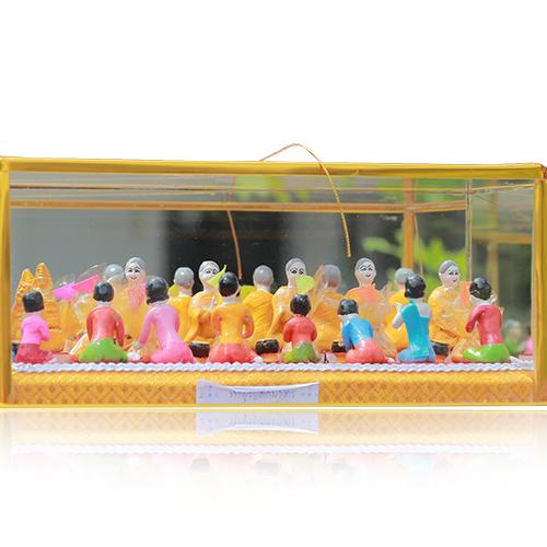 ตุ๊กตาดินเผา ชุดประเพณี 12 เดือน (ชุดเข้าพรรษา) ตำบลบางแก้ว อำเภอเมือง จังหวัดอ่างทอง