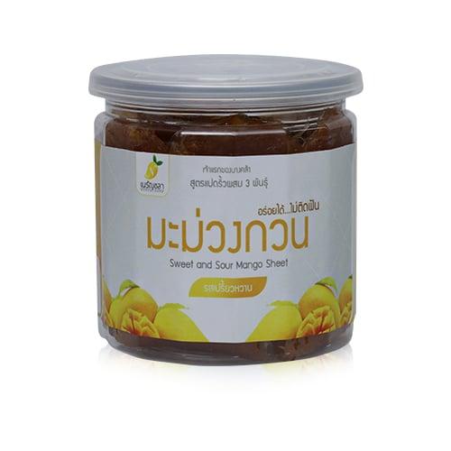 มะม่วงกวน สวนเนรัญชลา รสชาติเปรี้ยวหวาน (กระปุก) 150 กรัม (2กระปุก/ชุด)