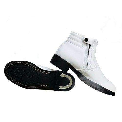 รองเท้าศรีสุรัส ผู้ชายฮาฟสั้น หนังนิ่ม สีขาว