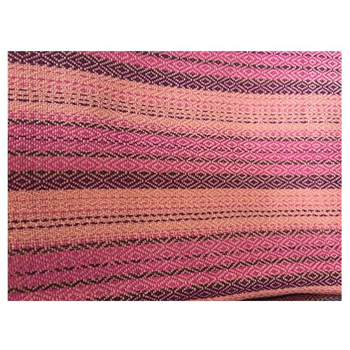ผ้าคลุมไหล่ ผ้าฝ้ายทอมือหมักน้ำซาวข้าว (ขนาด 80cm ยาว200cm) สีชมพู สลับ น้ำตาล
