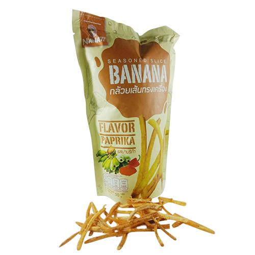 กล้วยเส้นปรุงรสปาปริก้า (4ถุง/ชุด)