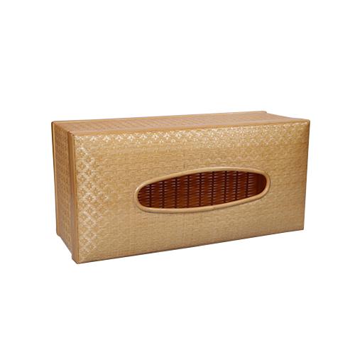 กล่องทิชชู พิกุล ลายขิด (สีเนื้อ)