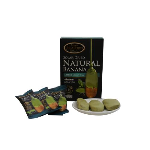 กล้วยตาก Premium เคลือบชาเขียว กล่องละ 10 ชิ้น กล่องใหญ่ 2 กล่อง