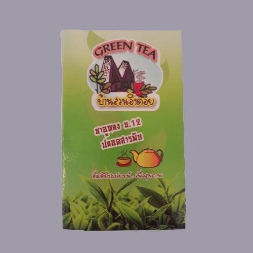 ชาเขียวอูหลงเบอร์ 12 (ใบเตย กล่องใหญ่)