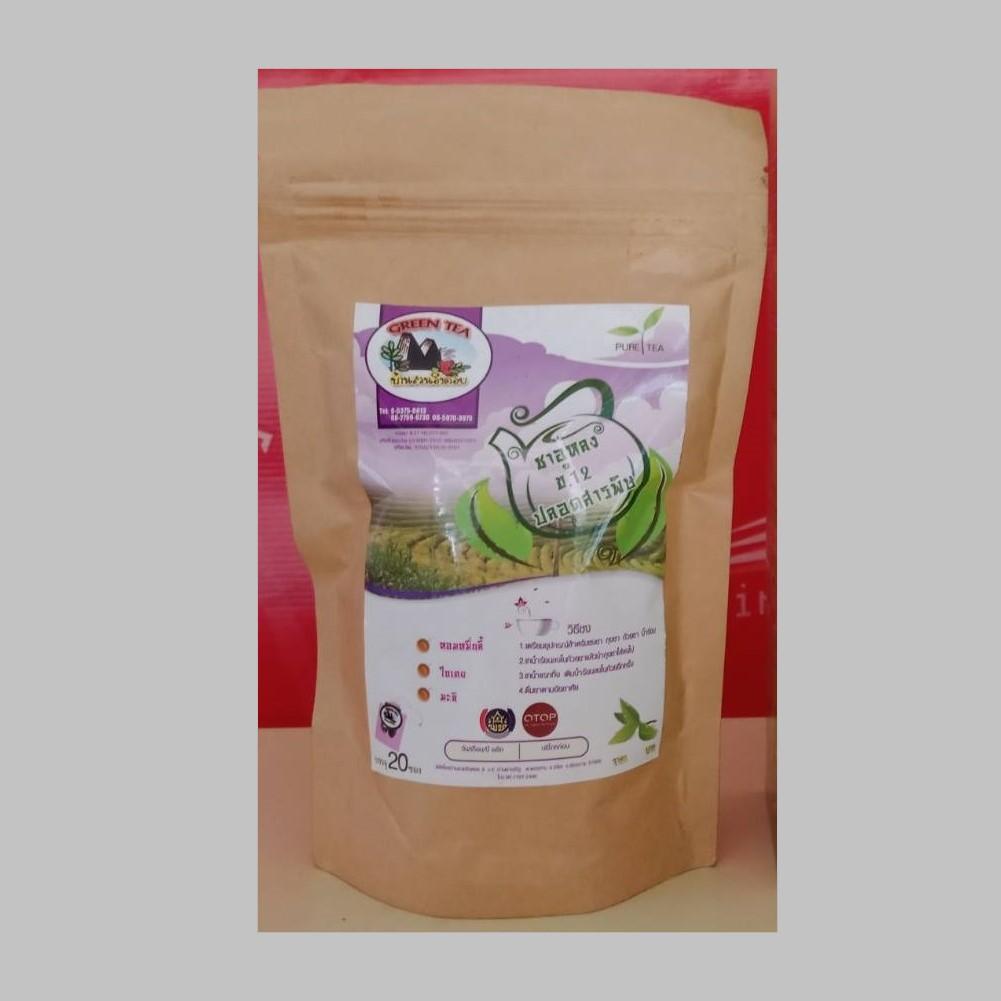 ชาเขียวอูหลงเบอร์ 12 (ใบเตย แบบซอง)