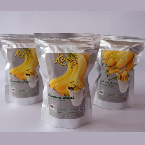 กล้วยหอมทองกรอบ รสธรรมชาติ ตรา เคเวอรี จังหวัดชุมพร @ ถ้ำสิงห์