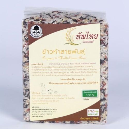 ข้าวห้าสายพันธุ์ สหกรณ์เกษตรอินทรีย์ทัพไทย
