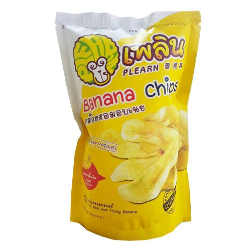กล้วยหอมอบเนย ตราเพลิน 4 รสชาติ