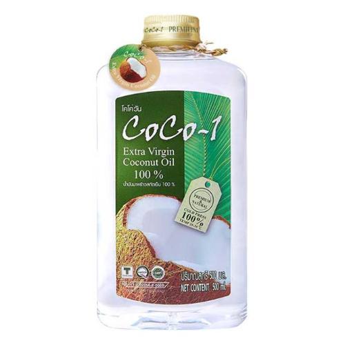 โคโค่วัน น้ำมันมะพร้าวสกัดเย็น 100 เปอร์เซ็นต์ 500 มิลลิลิตร ถ้ำสิงห์