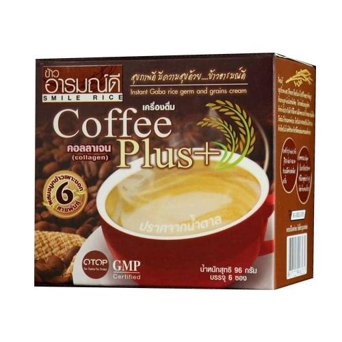 กาแฟผสมจมูกข้าวและคอลลาเจนบรรจุกล่องละ อารมณ์ดีฟาร์ม
