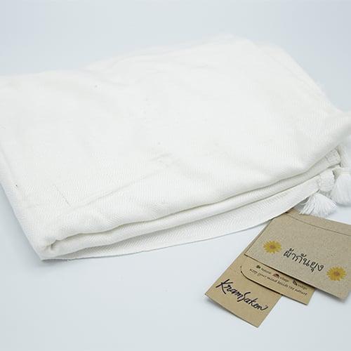 ผ้ากันยุง สีขาว ร้านครามสกล