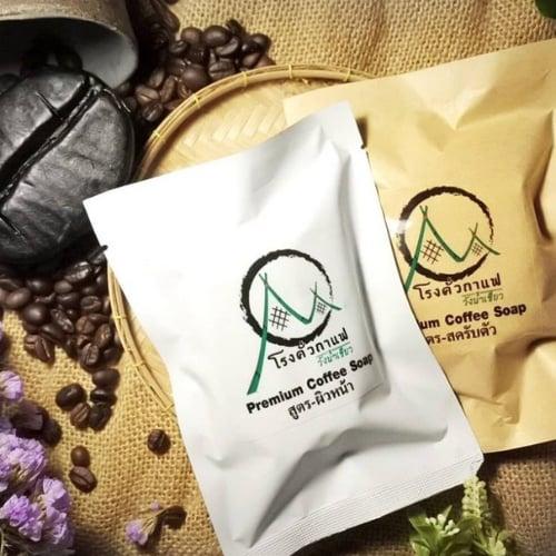 สบู่กาแฟ Set คู่ (ผิวหน้า+สครับตัว) Premium Coffee Soap ***Promotion***