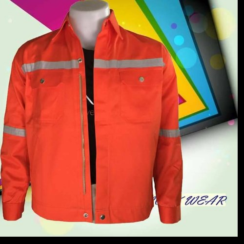 เสื้อ shop สีส้ม ติดแถบ (size M)