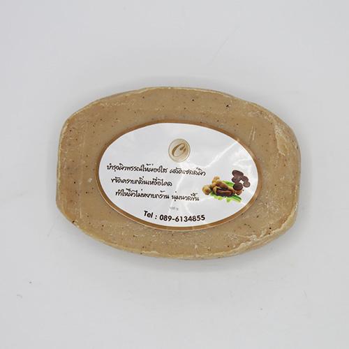 ฉัตรสุดา เดอ อัมพวาสบู่มะขามสครับกาแฟ ( 100 กรัม จำนวน 4ชิ้น)