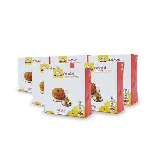 เค้กตรังส้ม กล่องจิ๋ว (50 กรัม) 6 กล่อง บ้านขนมศุภวัลย์