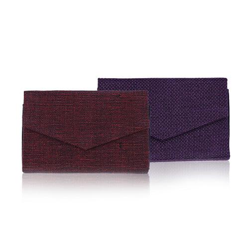 กระเป๋านามบัตร สีแดงดำ และสีม่วง (2ใบ)