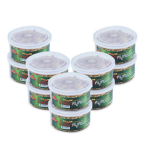น้ำพริกหมูหย็อง 40 กรัม 10 กระปุก