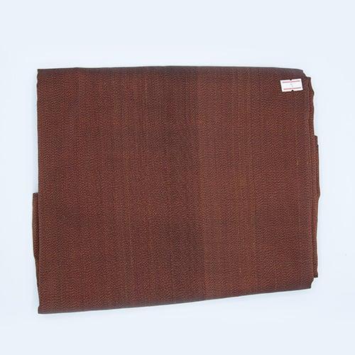 ผ้าไหมหางกระรอกโบราณ สีแดงควบเหลือง เส้นยืดดำ (4X1 เมตร)