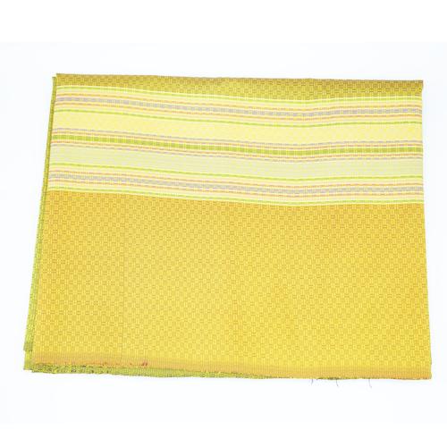 ผ้าไหม ลายราชวัตร ลายเชิง เหลืองทอง ขนาด 1X2 เมตร