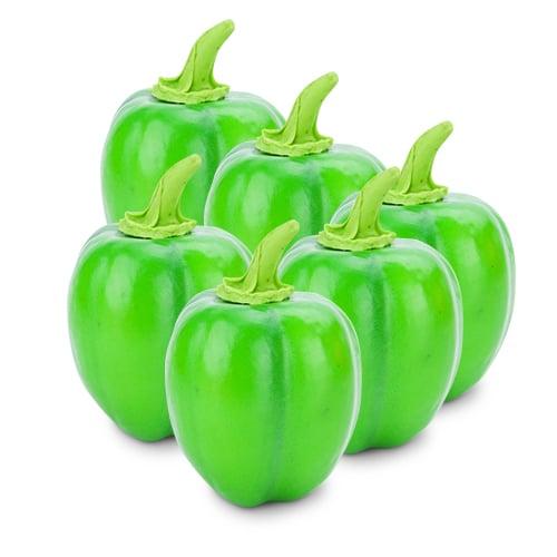 พริกหวานประดิษฐ์ สีเขียว V13 จำนวน 6 ผล