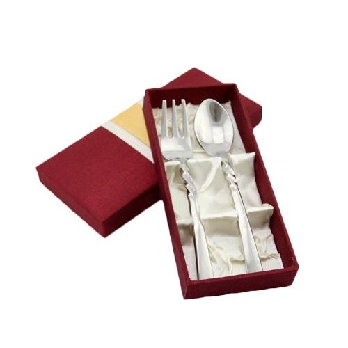 ช้อนทานข้าว 1 คู่ พร้อมกล่อง