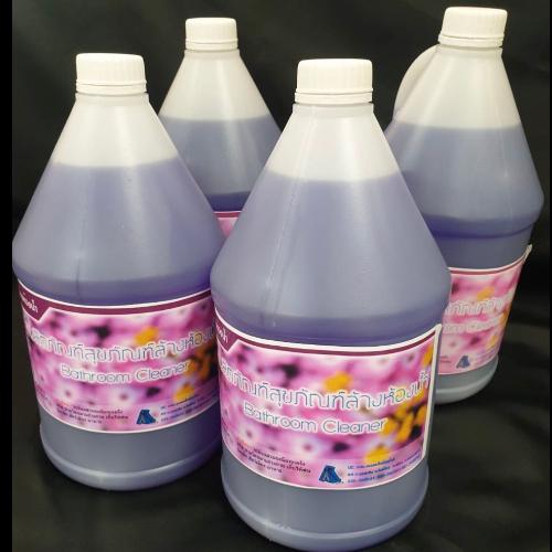 น้ำยาล้างห้องน้ำ สุขภัณฑ์ (สีม่วง) ขวดละ 3.8 ลิตร ขายยกลัง ลังละ 4 ขวด