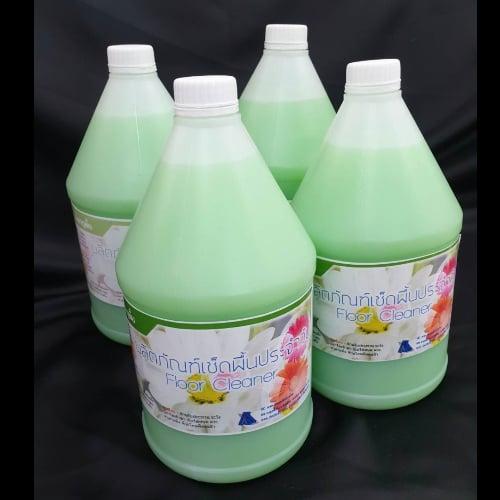 ผลิตภัณฑ์เช็ดพื้น ขนาด 3.8 ลิตร (สีเขียว) แพค 4 ขวด