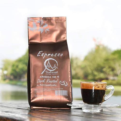 กาแฟอราบิก้าคั่วเข้ม Espresso Arabica Dark Roasted 250 gram (เมล็ดคั่ว)