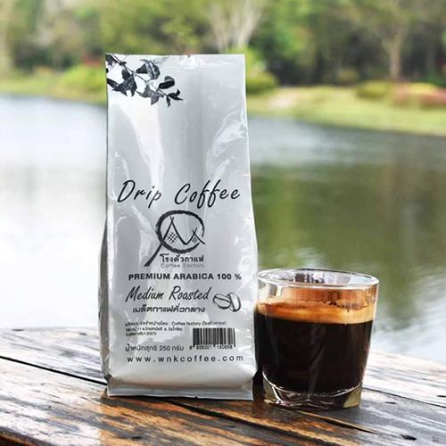 กาแฟพรีเมียมอราบิก้าคั่วกลาง Premium Arabica Medium Roasted 250 Gram