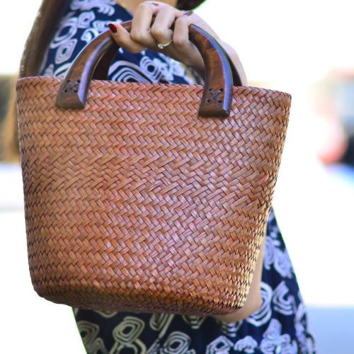 กระเป๋ากระจูด premium (บุผ้าและสานพิเศษลาย 2)