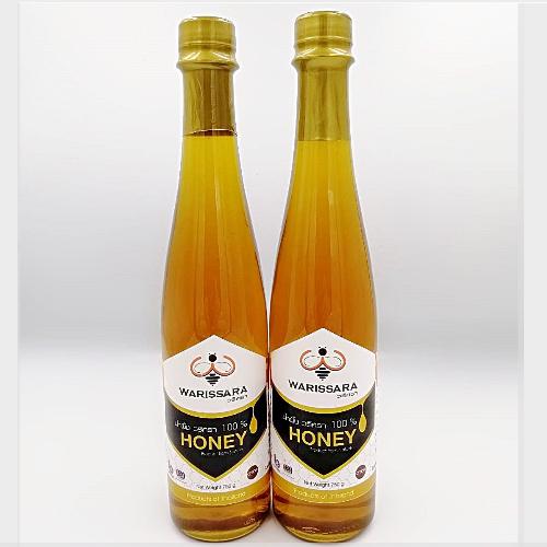น้ำผึ้งแท้ 100 เปอร์เซ็นต์ วริศรา น้ำผึ้งเดือนห้า เข้มข้นอร่อย ขวดกลาง