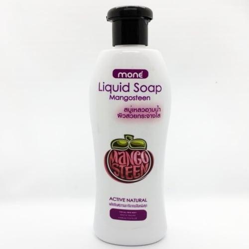 สบู่เหลวอาบน้ำมังคุด 400 ml. (ผิวกระจ่างใส)