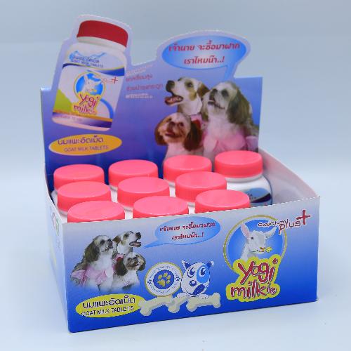 นมแพะอัดเม็ด Yogi Milkie (80 กรัม) 1 กล่อง (12 แพ็ค)