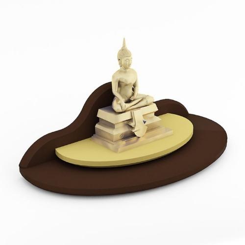 หิ้งพระขนาดเล็ก Mini Buddha Place สีเอสเพรสโซ่